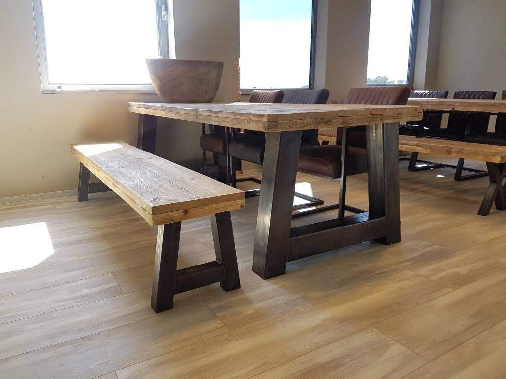 Bankje passend bij eettafel a frame firma hout & staal