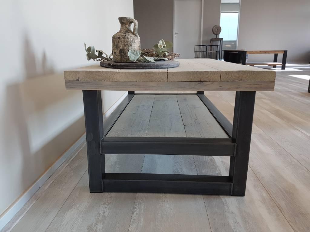 Magnifiek TV-meubel Hout & Staal naar wens samen te stellen - Firma Hout & Staal #JA54