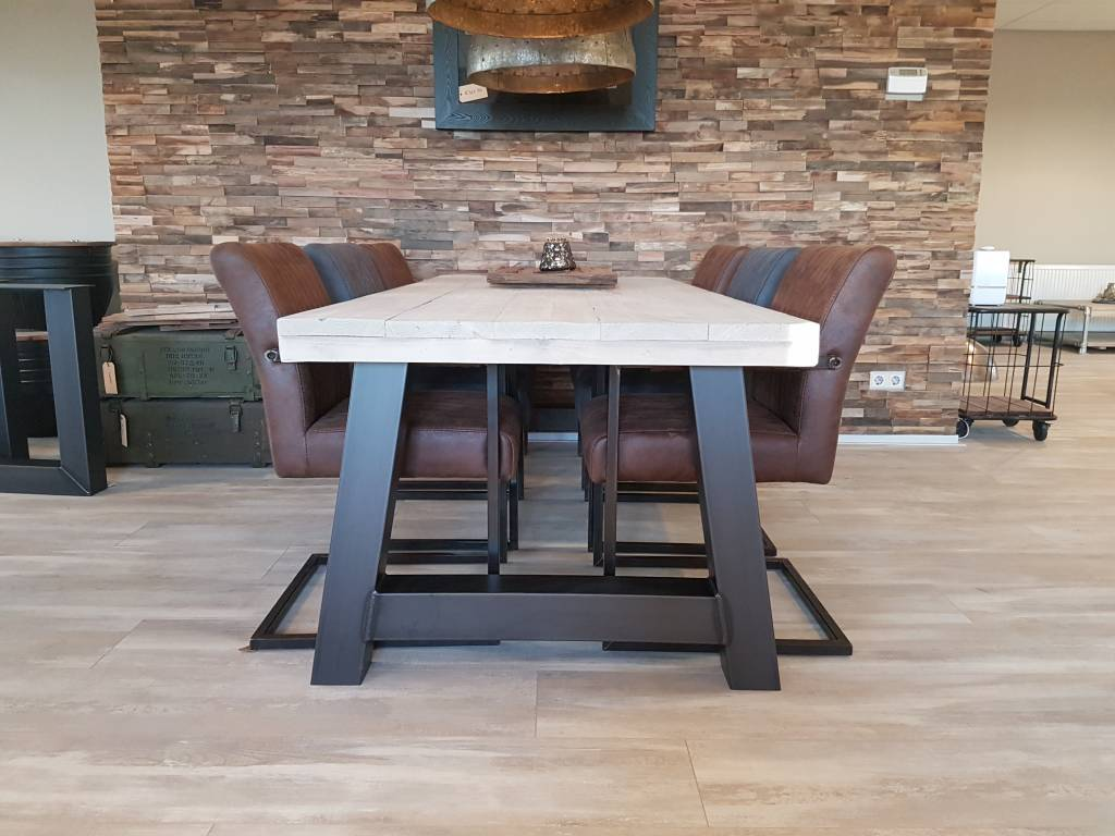 Tafel Hout Staal : Eettafel a frame firma hout staal