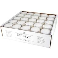 Pritogo Teelichter Kunststoffhülle, Weiss [50 Stück] Ø 3,8 * 2,5 cm, Rußfrei
