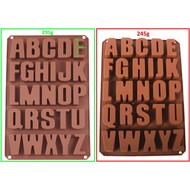 Buchstaben ABC groß - Silikonform Seifenform Duftsteinform Backform