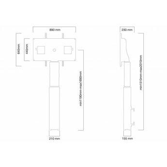 Newstar W2500BLACK Elektrische TV Standaard
