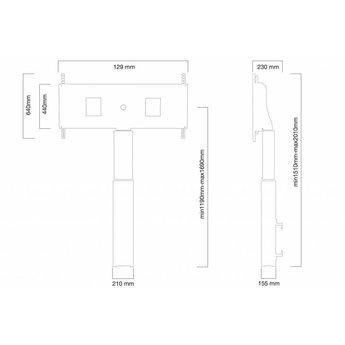 Newstar W2500BLACKMS Elektrische TV Standaard