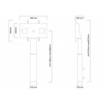 Newstar W2500SILVER Elektrische TV Standaard