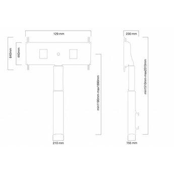 Newstar W2500SILVERMS Elektrische TV Standaard