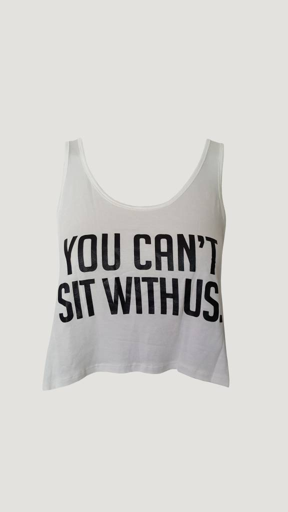 You can't sit with us (White)