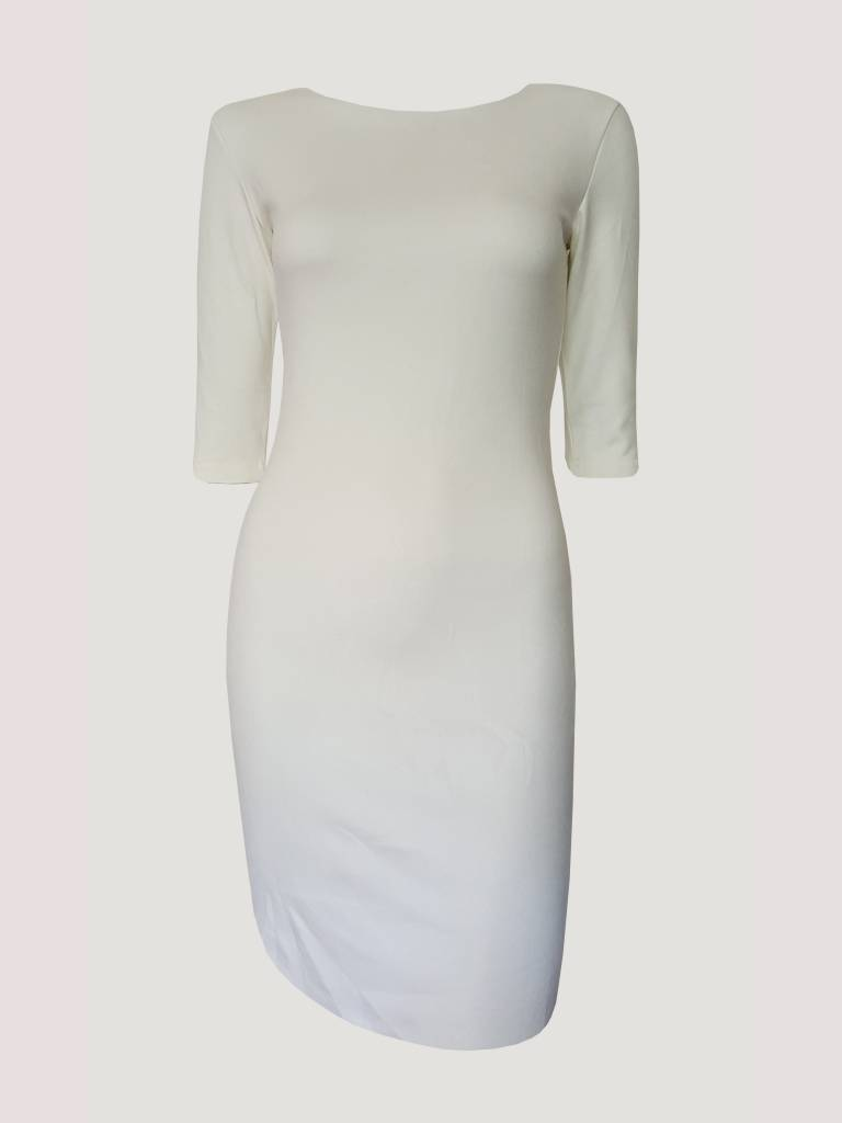 Suede Dress White