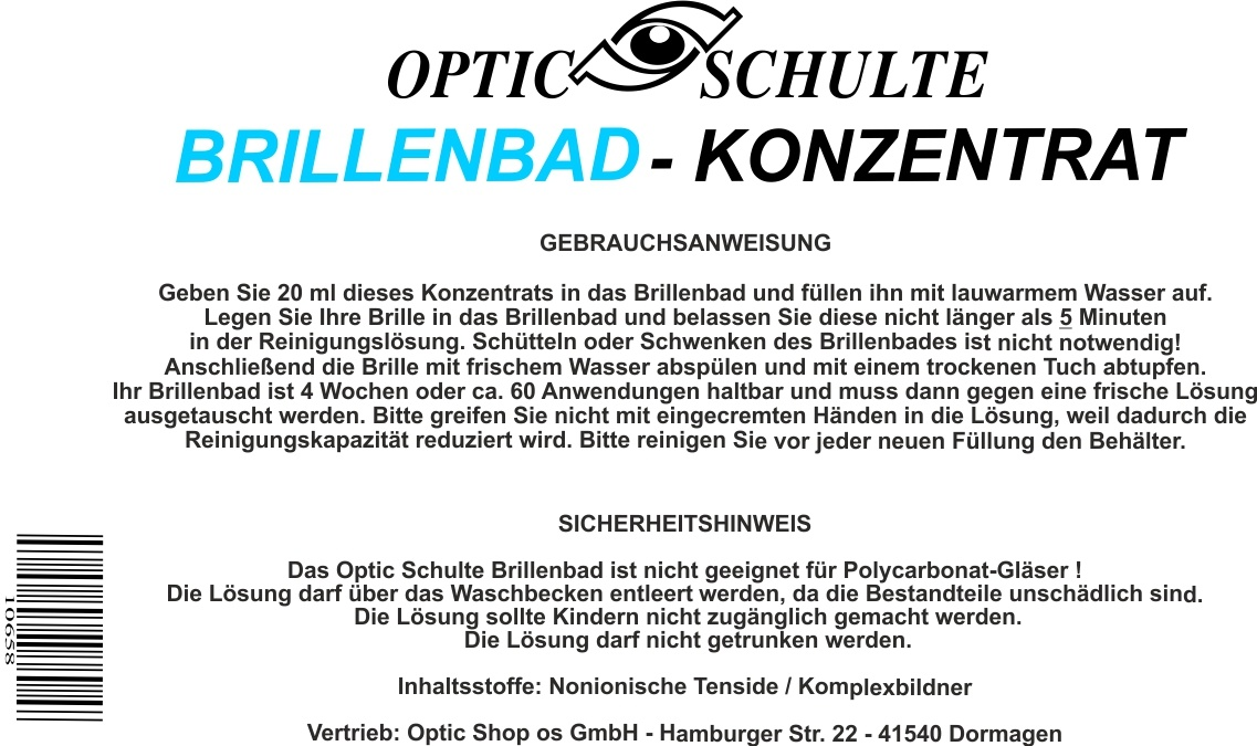 Optic Schulte Brillenbad Nachfüllkonzentrat