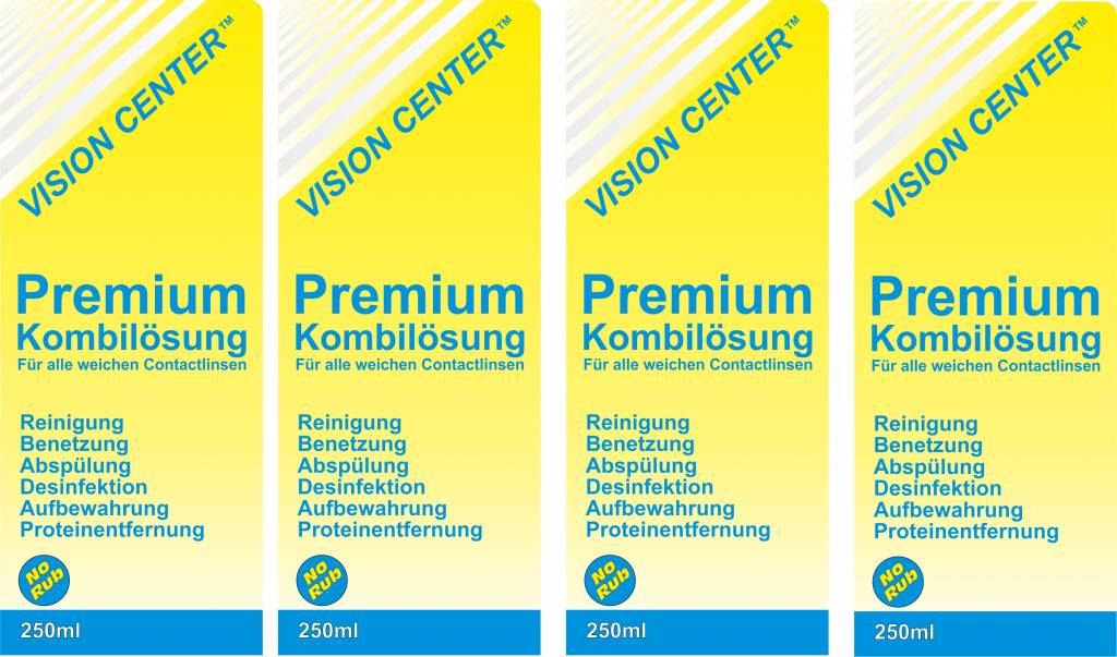 Vision Center Premium Kombilösung 4x250ml