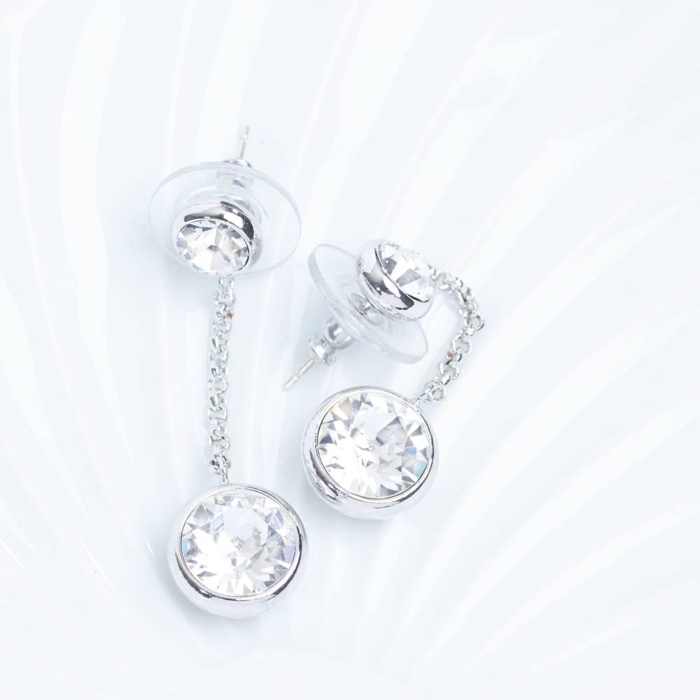 Ohrringe/Ohrstecker Thunderball Mini weiß