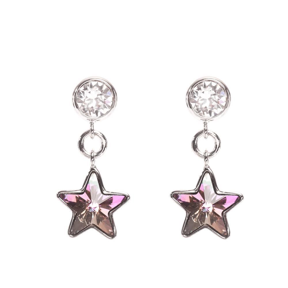 Ohrringe/Ohrstecker Long Star Mini - violett