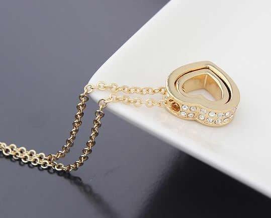 Halskette Amore mio mit weißen Kristallen