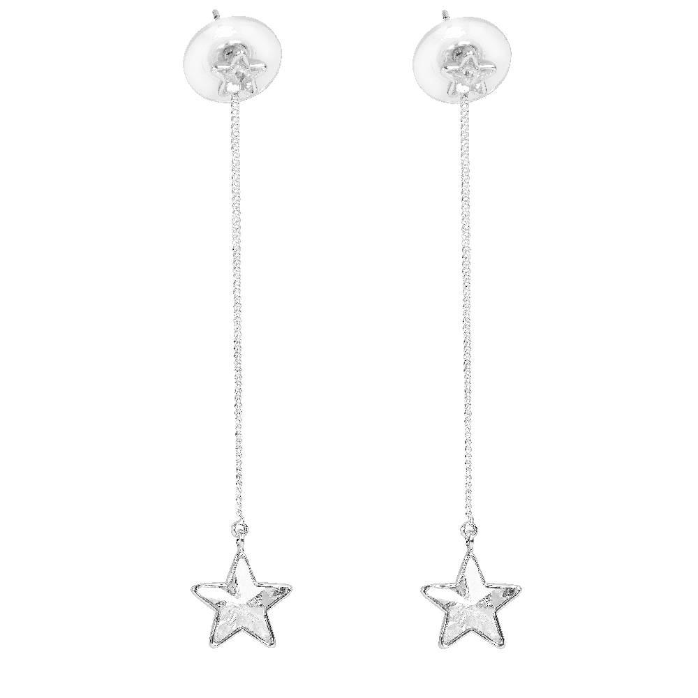 Long Star weißgold/weiß