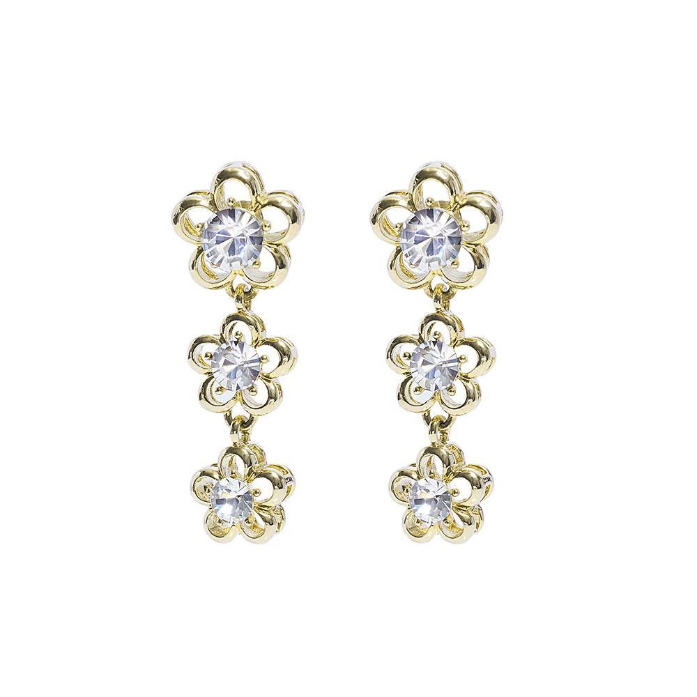 Ohrringe Tre fiori - gold