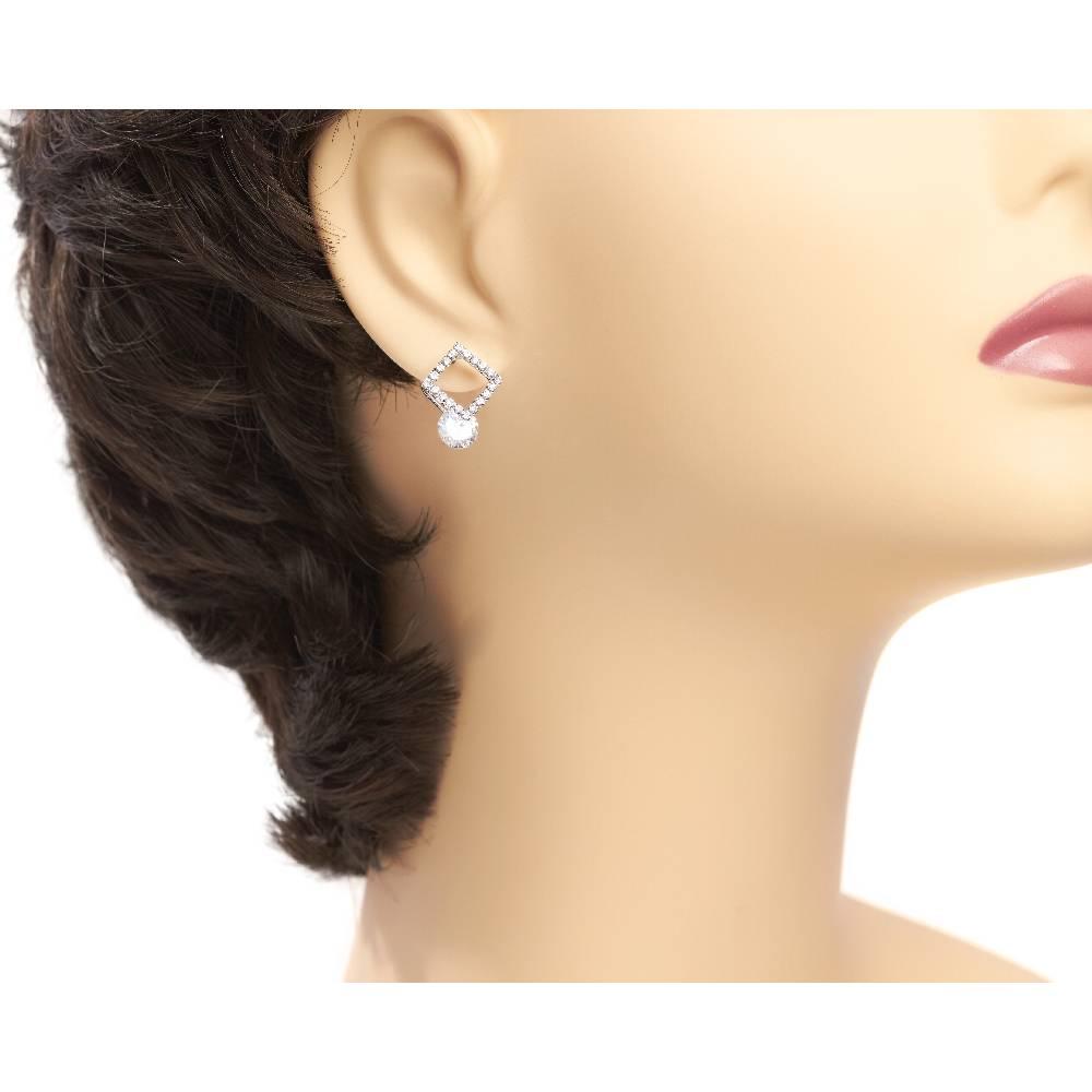 Ohrring Bellevue - weiß