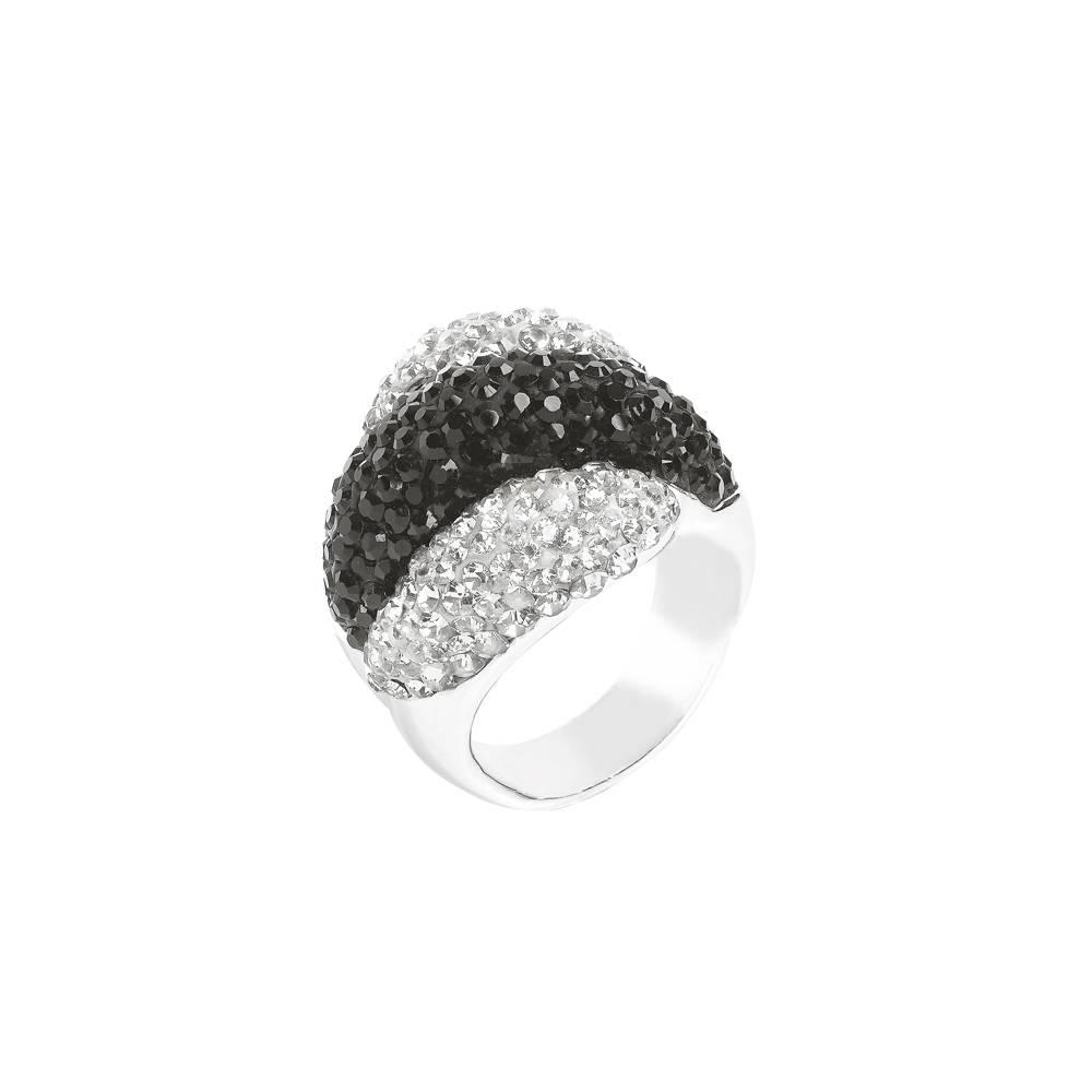 Ring Palazzo grau-schwarz