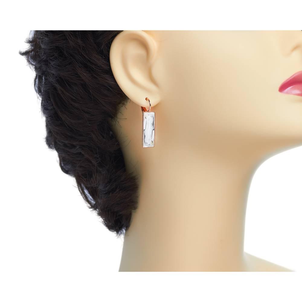 Ohrringe Dancer - Roségold und weiß