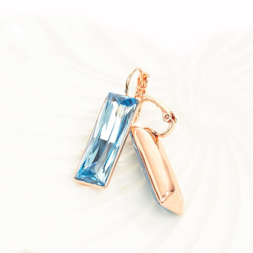 Ohrringe Dancer - Roségold und blau