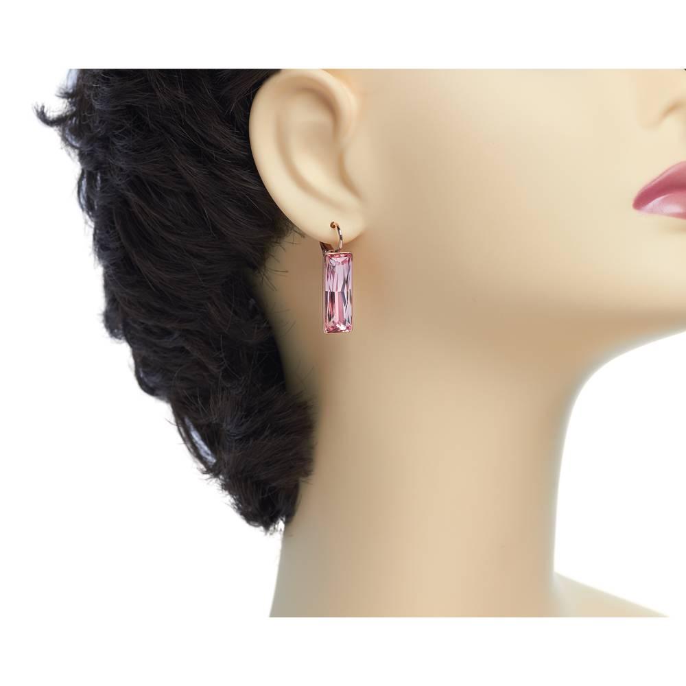 Ohrringe Dancer - Roségold und rosa
