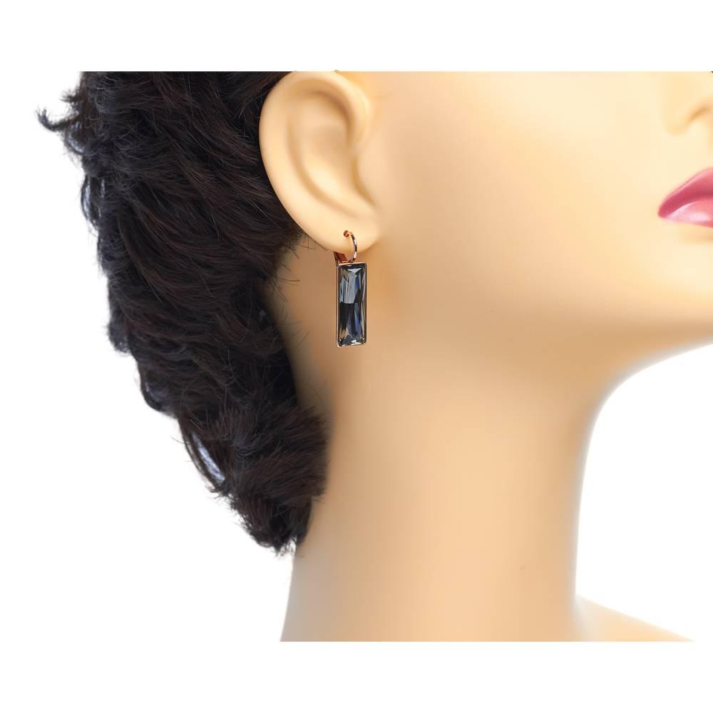 Ohrringe Dancer - Roségold und grau