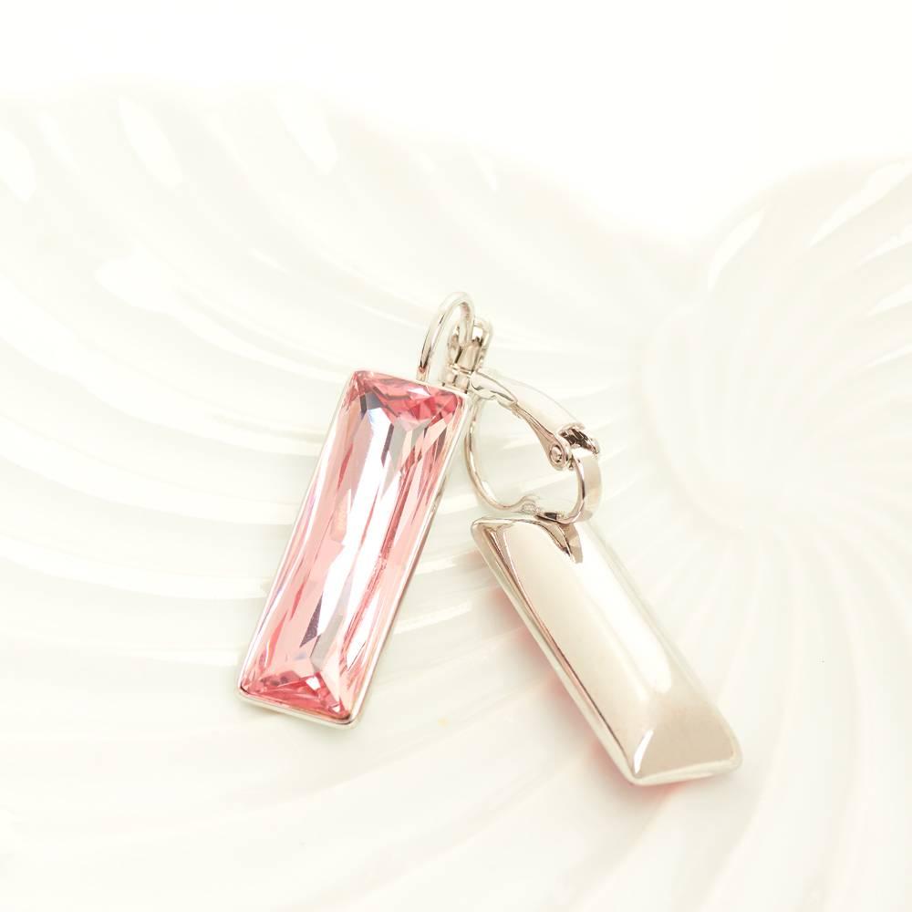 Ohrringe Dancer - Weißgold und rosa