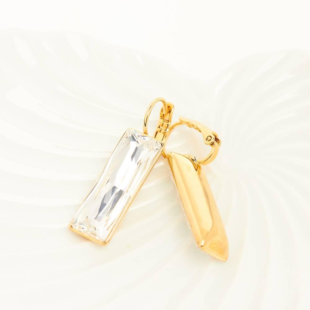 Ohrringe Dancer - Gelbgold und weiß