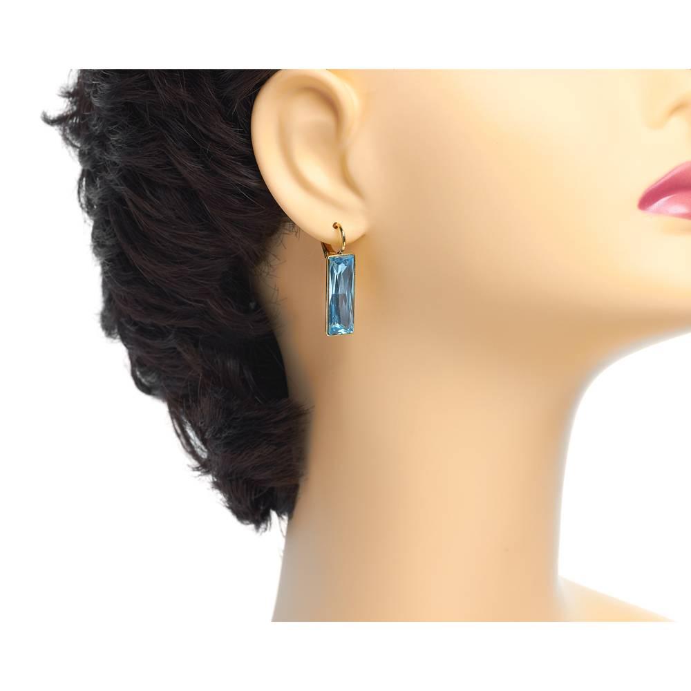 Ohrringe Dancer - Gelbgold und blau