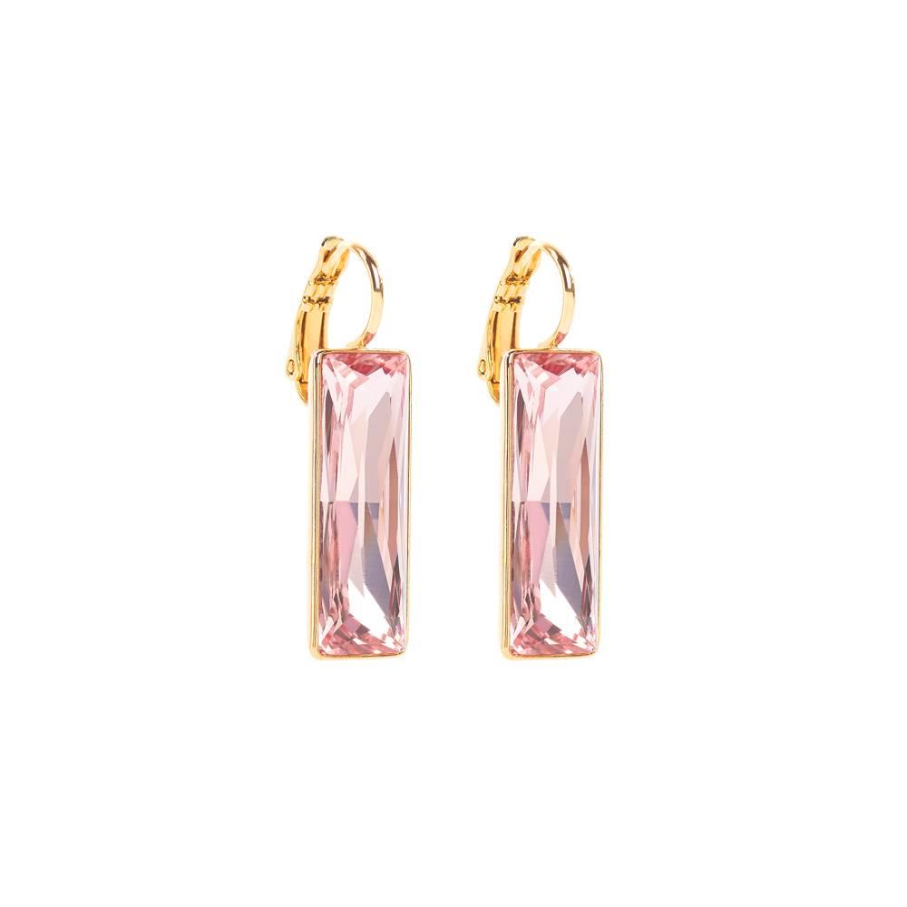 Ohrringe Dancer - Gelbgold und rosa