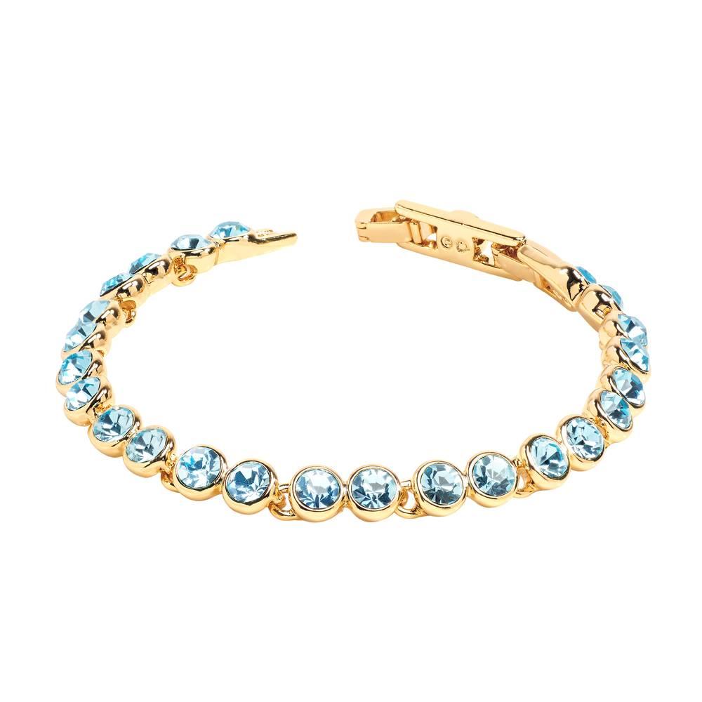 Tennisarmband gold/aqua