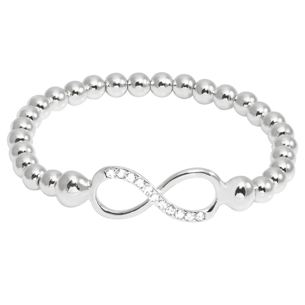 Armband Infinity Pearl weiß