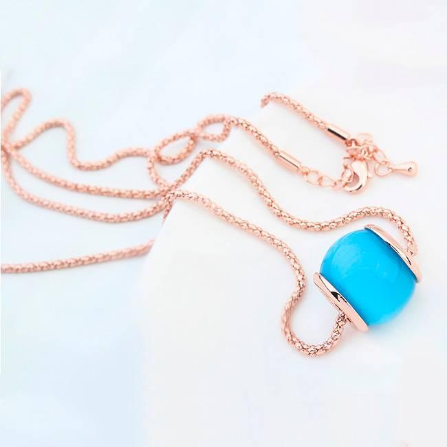 Halskette Tropical blau