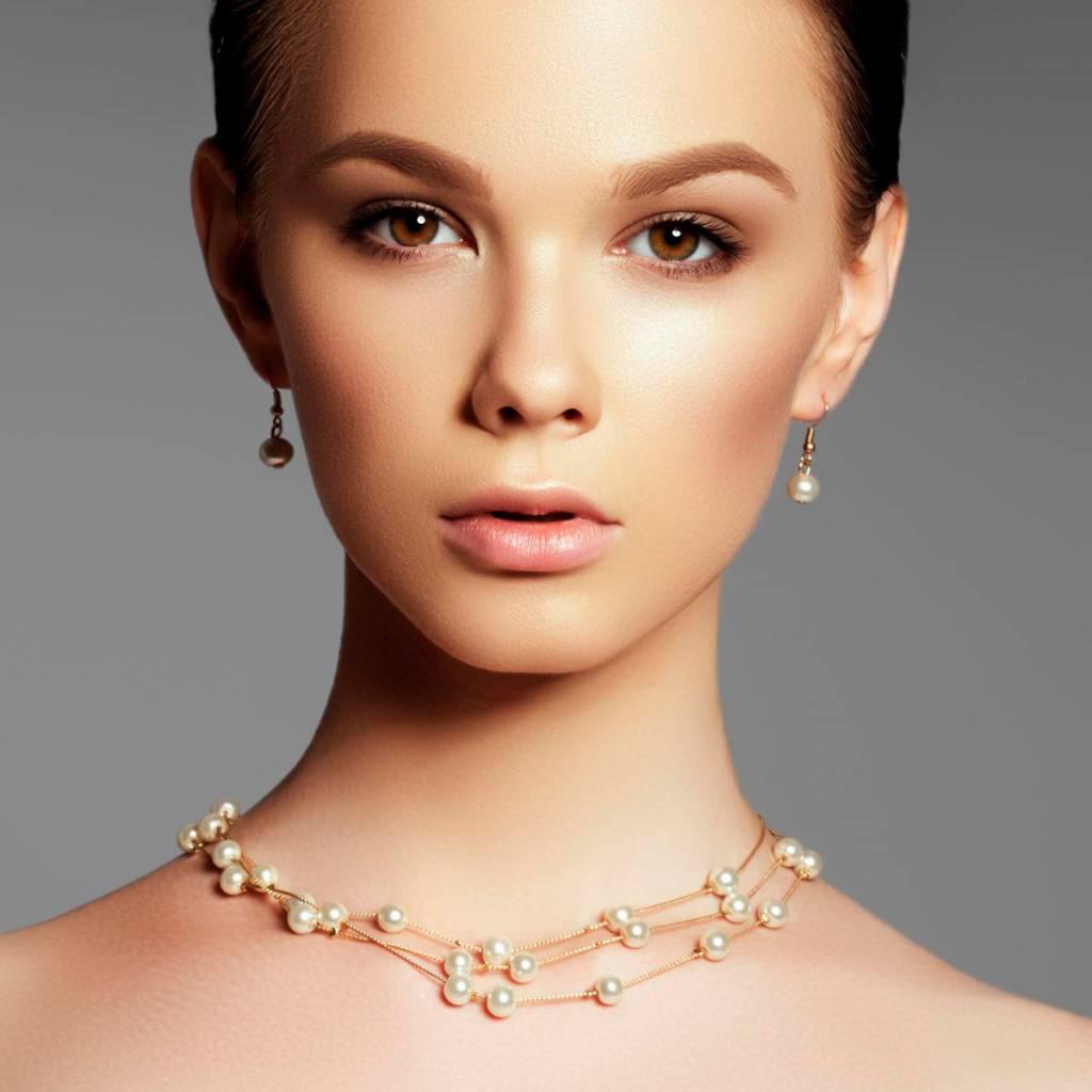 Halskette Sweet Pearl rosa