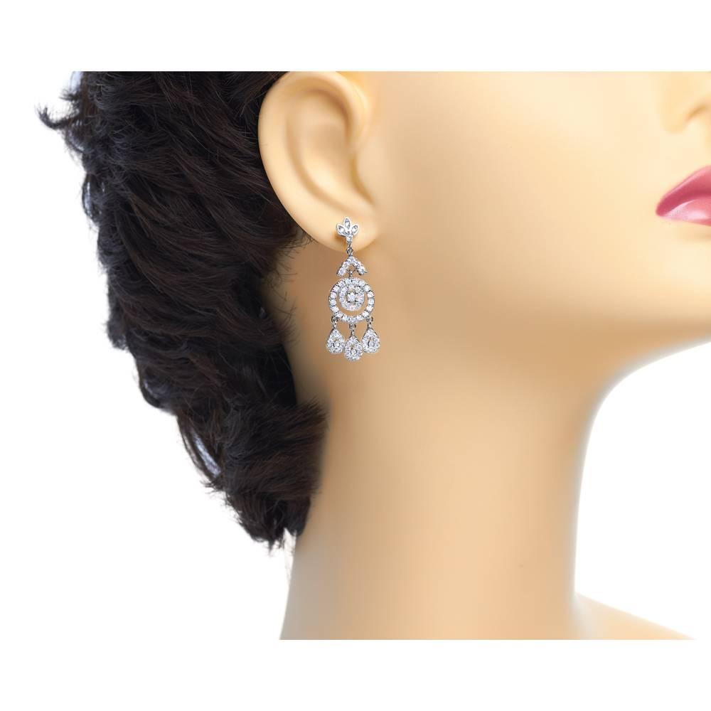 Ohrring Kandelaber - weiß
