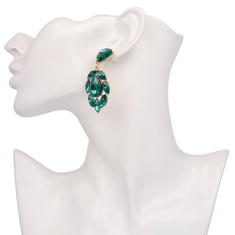 Ohrring Tango - dunkelgrün