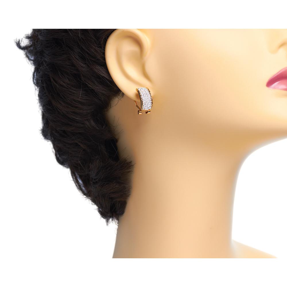 Ohrringe  Luna  - weiß