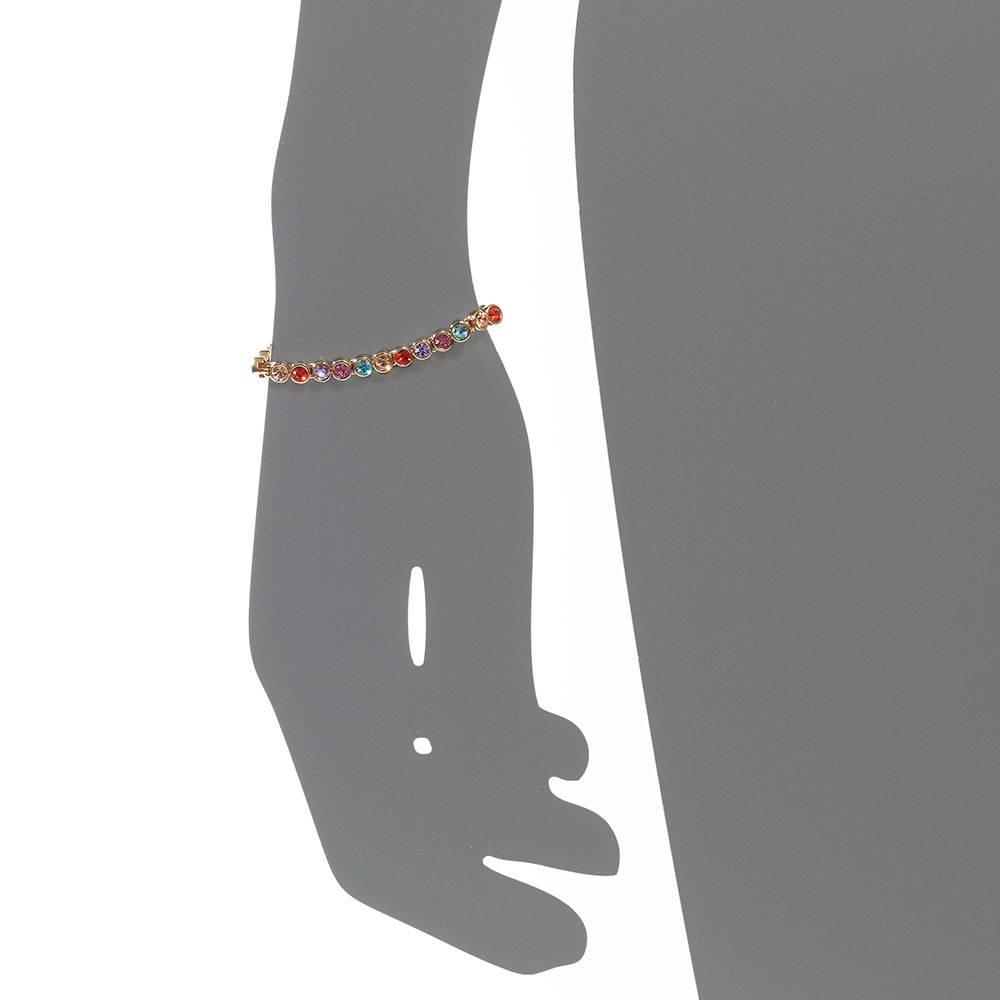 Tennisarmband, multicolor - Gelbgold vergoldet