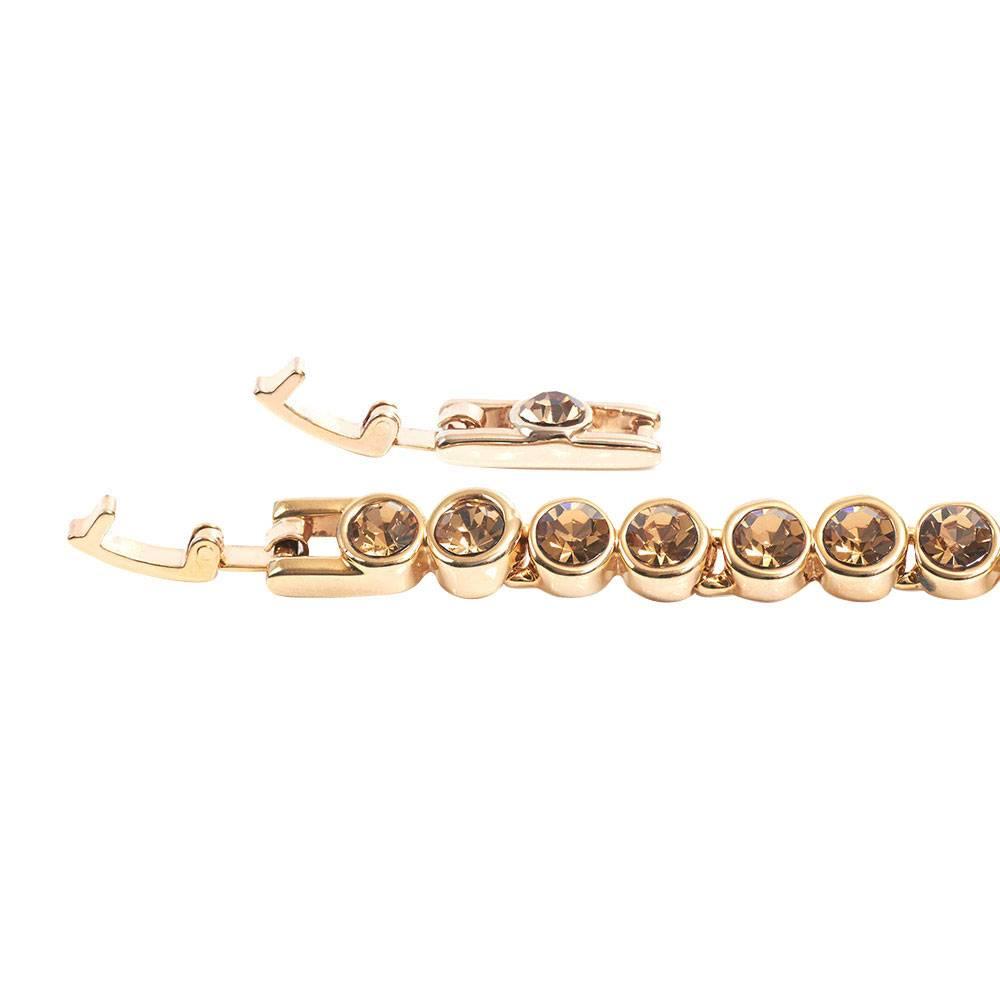 Tennisarmband, hell Topas - Gelbgold vergoldet
