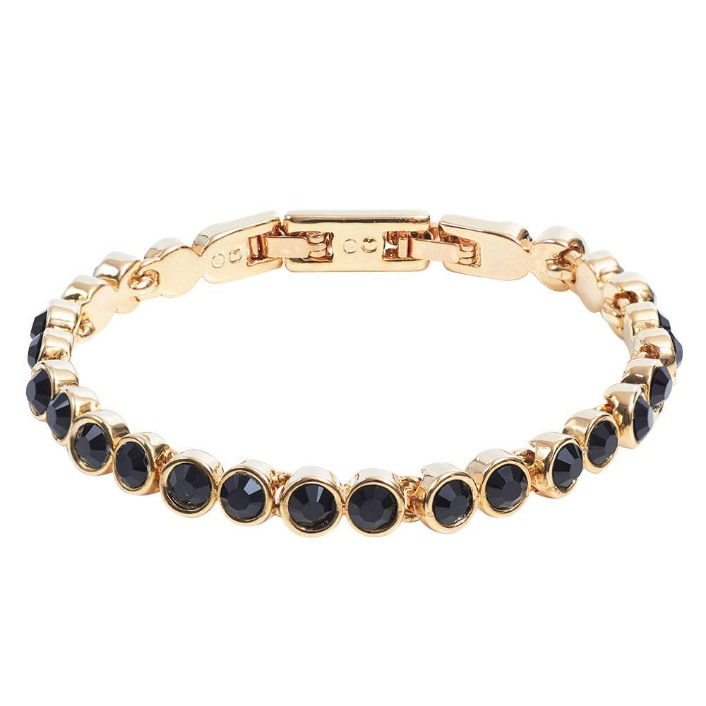 Tennisarmband gold/schwarz