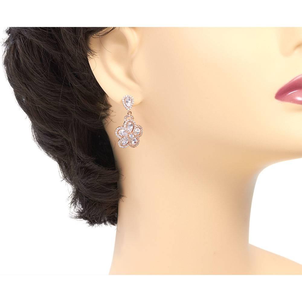 Ohrringe Fiorella - rosé