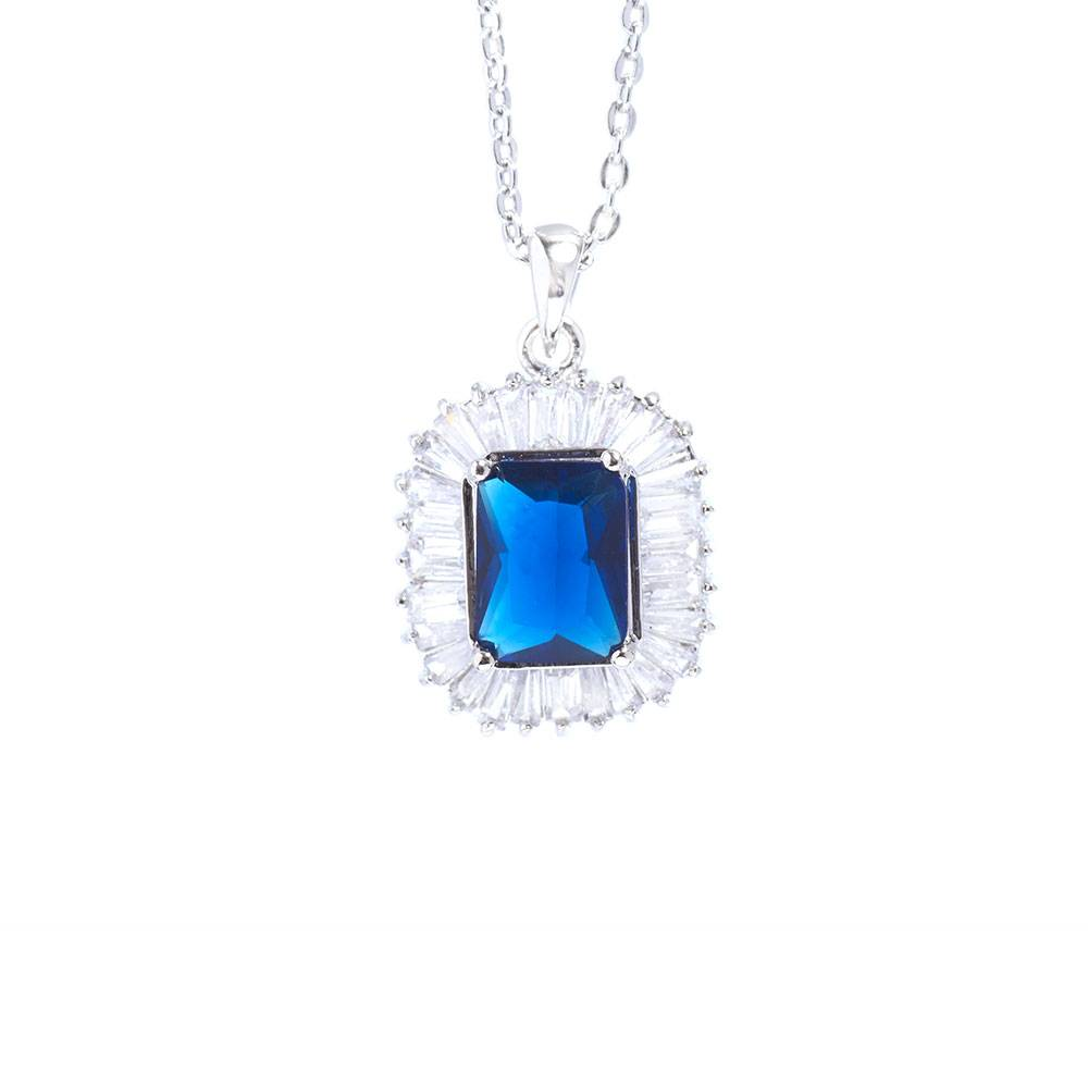 Halskette Blue Velvet, weiß