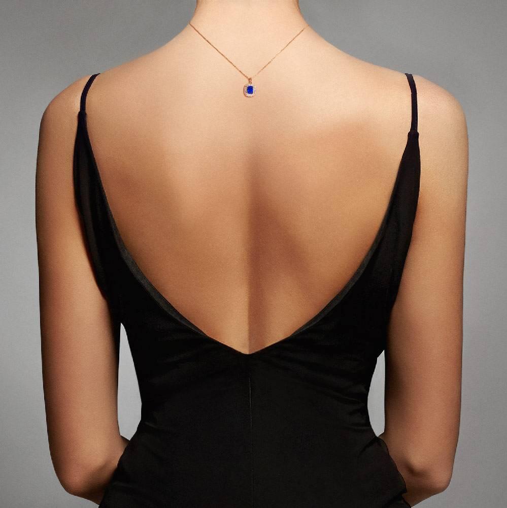 Halskette Blue Velvet, rosé
