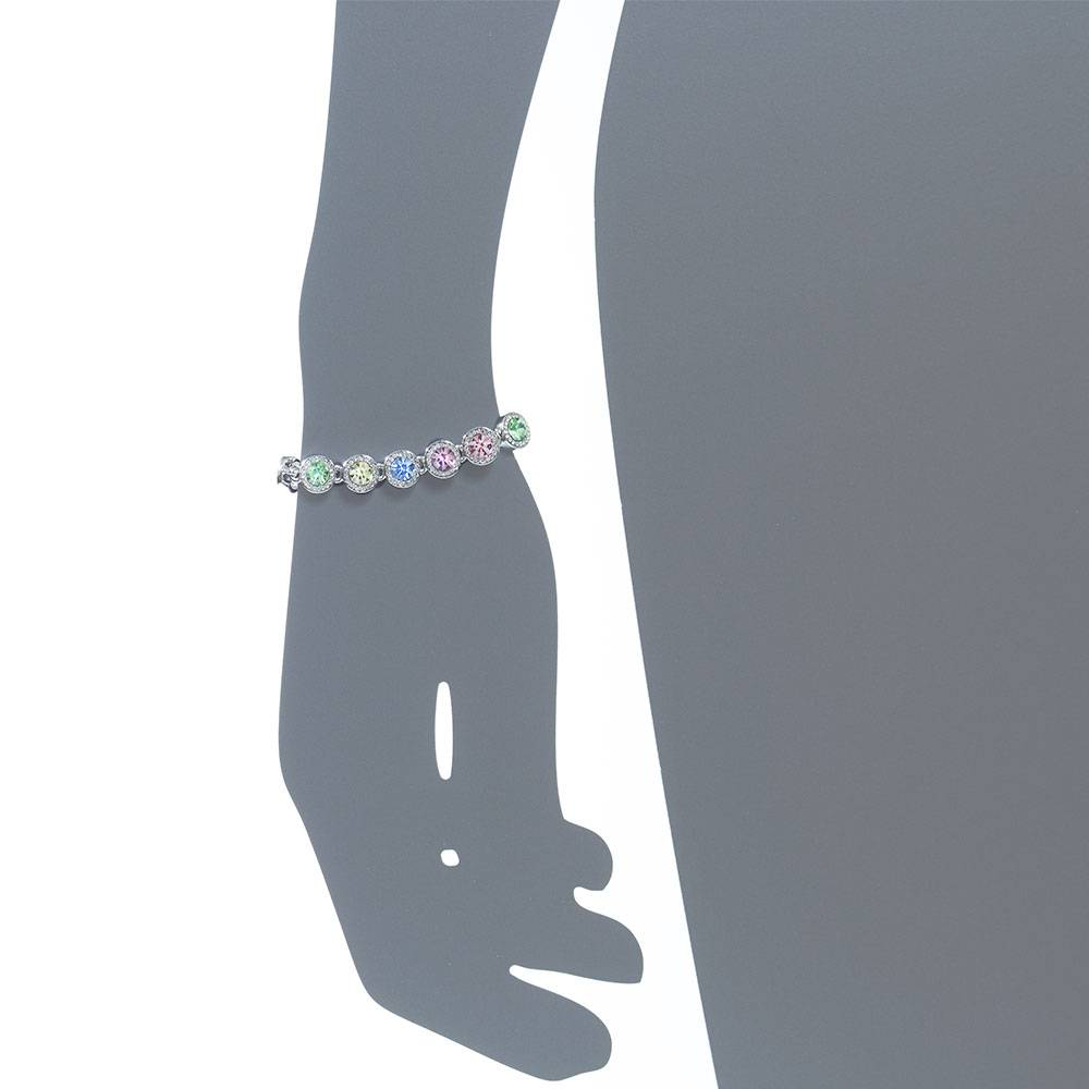 Armband Moneypenny, mehrfarbig pastell