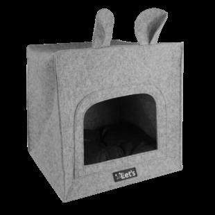 kattenverblijf Pet Cave grijs 40x40 cm