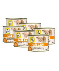 kattenvoeding Care zalm 6x200 gram