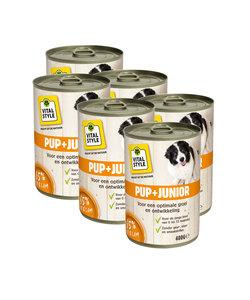 Junior hondenvoeding blik 6x400 gram