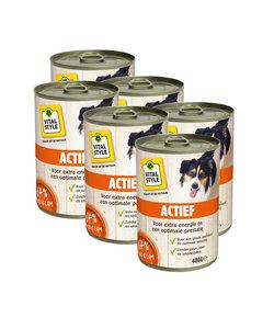 Vitaalvlees Hond Actief 6x400 gram