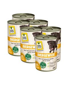 Overgewicht hondenvoeding blik 6x400 gram