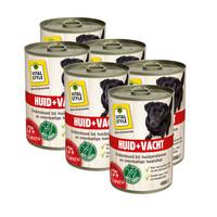 Huid en Vacht hondenvoeding blik 6x400 gram