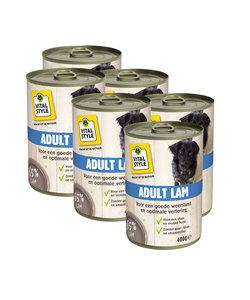 VitaalVlees Hond Lam 6x400 gram