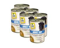 Adult kip hondenvoeding blik 6x400 gram